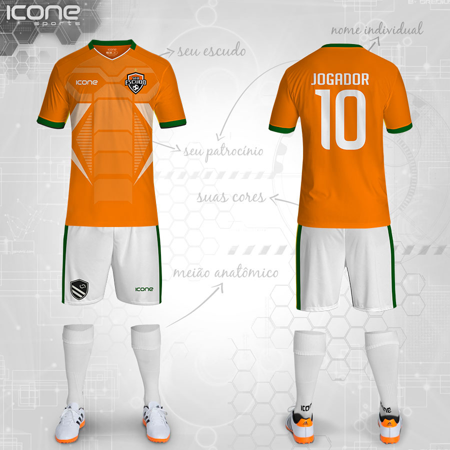 Uniformes para Futebol » Categorias Uniformes » ICONE SPORTS ... adcedc8018ec6