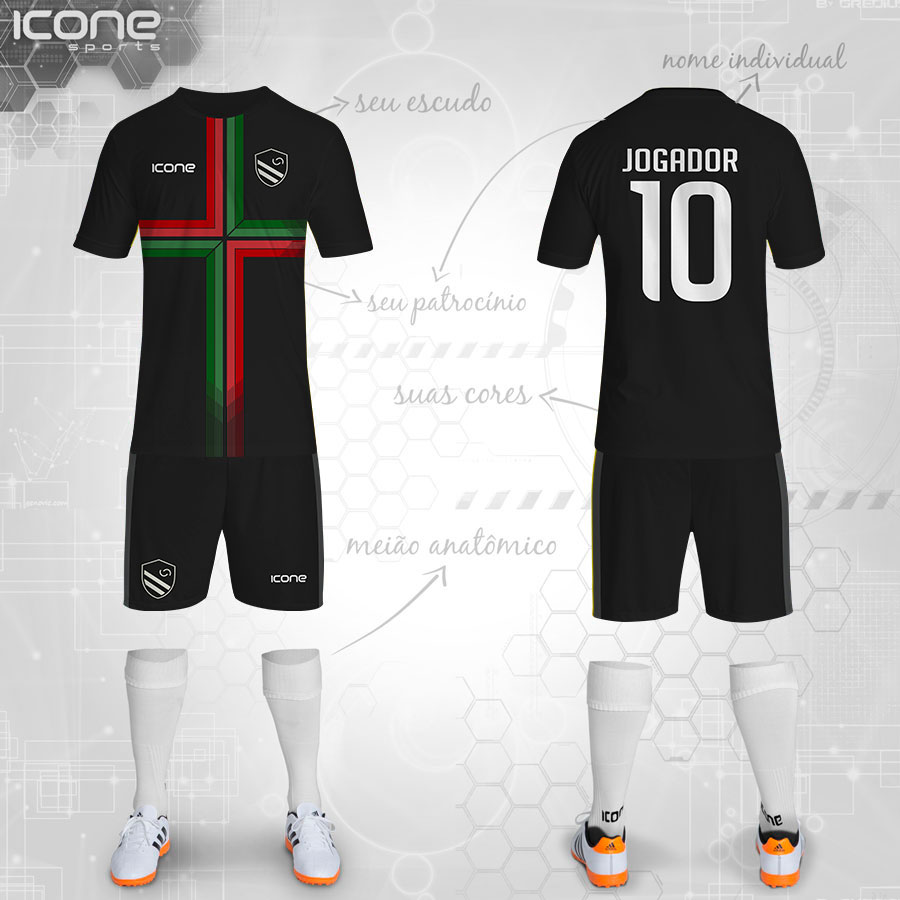 Uniformes para Futebol » Categorias Uniformes » ICONE SPORTS ... 454bbff0bd056