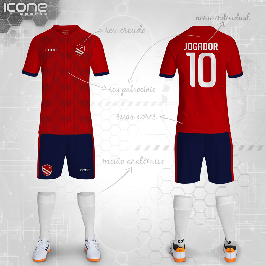 01b10fafbc Uniformes para Futebol » Categorias Uniformes » ICONE SPORTS ...