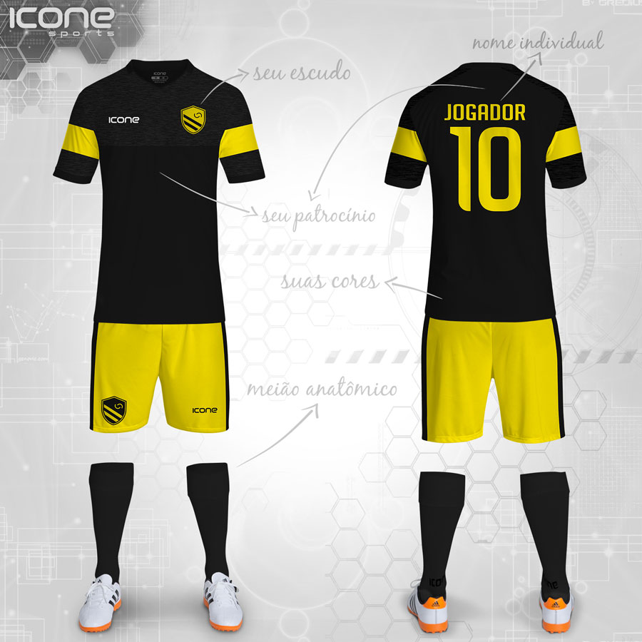 Uniformes para Futebol » Categorias Uniformes » ICONE SPORTS ... 742f5e94dad38